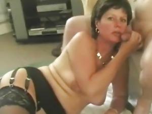 blonde swallows black cum