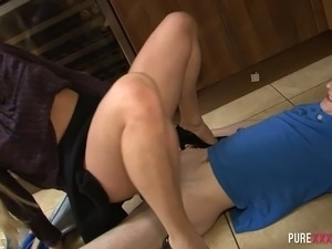 cute blonde housewife