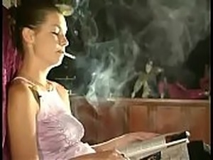 girls smoking pot naked