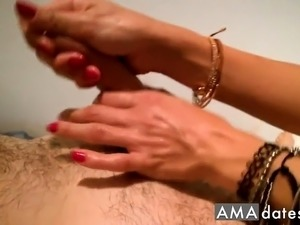 sexy handjob to blowjob