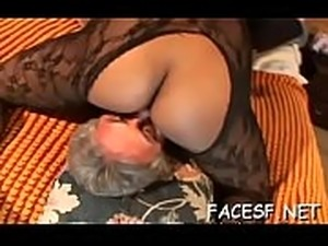 femdom pussy smother facesitting
