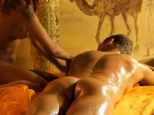 vibrating with back massager on pussy